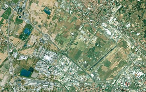 L'aeroporto di Firenze e la piana fiorentina in un'immagine di Google Maps