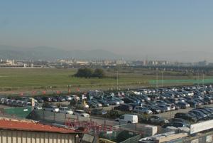 Cantiere della Linea 2 della metropolitana presso l'aerostazione di Firenze