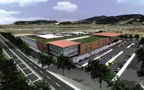 Rendering dell'assetto finale della nuova aerostazione