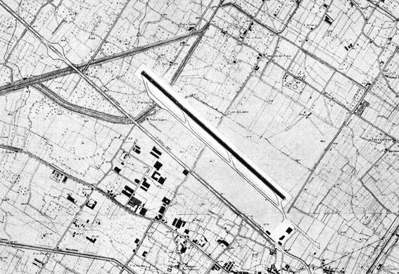 """""""Pista parallela"""" anni '60. Una delle soluzioni progettate dall'arch. Luciano Nustrini nei primi anni '60 per la pista """"parallela"""" all'autostrada."""