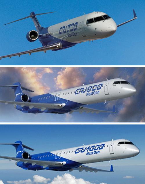 Famiglia Bombardier CRJ-Series: CRJ700 (70-78 posti, CRJ900 (86-90 posti), CRJ1000 (100-104 posti). Questi modelli non hanno mai operato su Firenze.