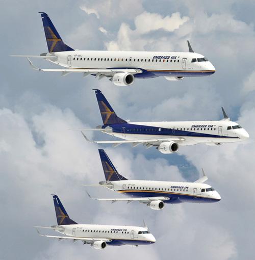 Famiglia Embraer E-Jet: E170 (70-78 posti), E175 (78-80), E190 (98-114), E195 (108-122). Attualmente a Firenze operano gli E175, E190 e E195.