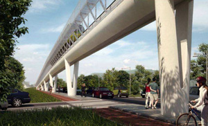Rendering del people mover di Pisa