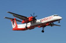 Bombardier Q400 di Air Berlin impiegato da Niki per i voli su Firenze