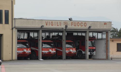 L'autorimessa dei Vigili del Fuoco - Distaccamento Aeroportuale di Firenze Peretola